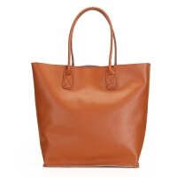 新款时尚欧美风范单肩手提大容量水桶包真皮女包大包