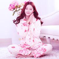 珊瑚绒睡衣女冬季长袖套装加厚秋冬款法兰绒保暖家居服开衫大码