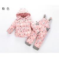儿童羽绒服男童套装女宝宝新款两件套婴儿服休闲女童加厚卡通外套