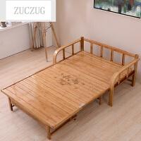 ZUCZUG竹床折叠床单人双人午休简易1.2米1.5实木板1.8米板式沙发床