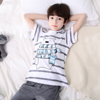 儿童睡衣夏季男孩薄款套装短袖纯棉宝宝男童家居服小孩中大童夏天