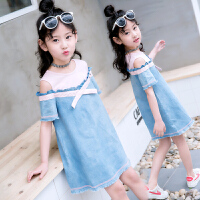 连衣裙夏装韩版儿童洋气牛仔公主裙女孩宝宝裙子