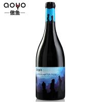 傲鱼红酒智利原装进口 珍藏海底摩艾02干红混酿葡萄酒750ml*1