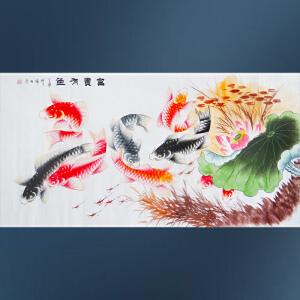 现代画家  杨丽  富贵有鱼  /33
