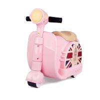 儿童可坐可骑拉杆箱旅行箱小孩拖箱卡通行李男女通用箱子 18寸(