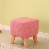 穿鞋凳换鞋凳创意方凳布艺小凳子实木沙发凳茶几板凳简约矮凳