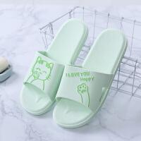 室内拖鞋夏季居家鞋情侣家用柔软猫咪浴室防滑洗澡漏水凉拖女