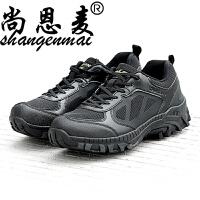 低帮男作战靴军迷军靴秋季透气沙漠战术靴登山鞋特种兵陆战靴