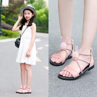 女童凉鞋夏季小公主儿童沙滩鞋学生中大童防滑软底