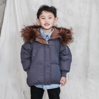 儿童羽绒服男童短款加厚中小童2018新款冬季宝宝女童装外套