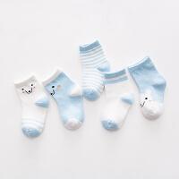 新生婴儿宝宝短袜 男女春秋冬纯松口儿童棉袜子0-1-3-5-7-9-岁 XS 0-个月(适合9cm以下脚长)