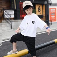 男童夏装新款套装儿童韩版夏季童装中大童短袖潮两件套