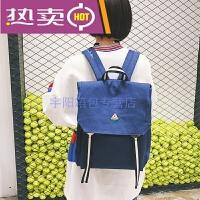香港潮牌纯色女式双肩包帆布包韩国森系休闲旅行包简易书包女学生校园背包