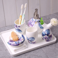 陶瓷卫浴四件套件 浴室用品套件套装 卫浴用品 五件套装