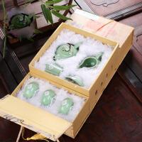 龙泉青瓷功夫茶具整套装陶瓷茶壶茶杯茶漏茶海茶具套组家用