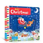 英文原版进口童书Busy Christmas 繁忙的圣诞节机关操作活动玩具纸板书 亲子学前早教 1-5岁儿童英语趣味阅