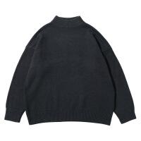 №【2019新款】小伙子穿的冬韩国复古简约基础款纯色小高领毛衣 仿兔毛黑白男女针织上衣