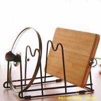 收纳创意厨房多功能放锅盖架锅架砧板菜板案板架置物架 黑色