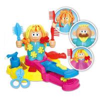 剪发模具工具像皮泥面条机玩具儿童理发师彩泥橡皮泥挤头发抖音