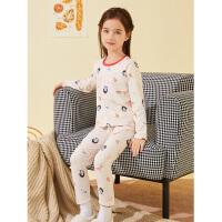 迪士尼女童内衣套装棉新款宝宝卡通家居服睡衣儿童两件套
