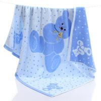 婴儿浴巾宝宝正方形大盖毯抱被新生儿童毛巾被超柔软吸水