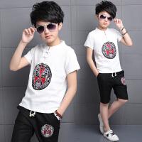夏装套装新款中大童夏季儿童韩版男孩短袖两件套潮衣