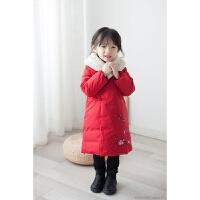 女童汉服中国风冬装羽绒服过年喜庆宝宝装女新年装儿童唐装中国风