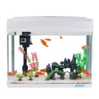 2018新款 工厂直供客厅造景生态鱼缸水族箱白色玻璃中小型桌面懒人水草缸批