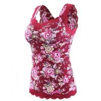 零束缚文胸背心式一体无钢圈舒适睡眠打底吊带棉质内衣带胸垫大码
