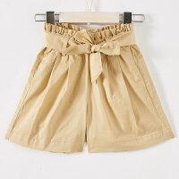 【2件1.5折价:26.9,可叠券】moomoo女童装休闲梭织高腰裤裤装夏