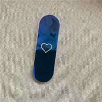手机支架可伸缩卡通韩国女款可爱创意创口贴情侣个性iPhonexs 创可贴支架 蓝底爱心