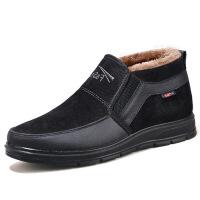 №【2019新款】冬天老年人穿的棉鞋男老北京布鞋男士棉鞋加绒爸爸鞋中老年棉鞋男