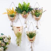 18新款创意竹编店铺门上装饰品挂饰客厅墙面小挂件家居墙壁墙饰壁挂风铃