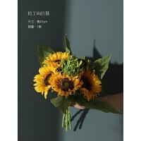 向日葵仿真花束干花瓶摆设家居客厅电视柜假花装饰品插花艺摆件
