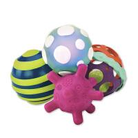 美国B.Toys触感球套装儿童触觉感统功能球婴儿手抓怪状夜光摇铃球