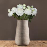 欧式家居干花装饰品摆件 简约客厅陶瓷插花花瓶餐桌花器花艺北