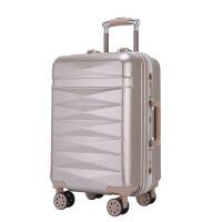 拉杆箱休闲潮流万向轮24英寸铝框皮箱户外时尚旅行箱女行李箱20英寸包硬箱复古登机箱