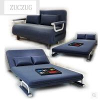 ZUCZUG现代双人折叠沙发床1.5单人午休小户型布艺床 1.2单人陪护椅躺椅 1.5米-1.8米