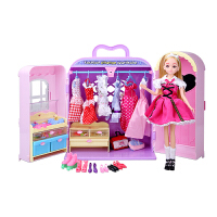 芭比娃娃套装大礼盒别墅城堡度假屋梦想豪宅女孩公主梦幻衣橱房子 公主 官方标配