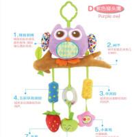 ?新生婴儿玩具0-1岁宝宝推车挂件 风铃床挂床铃 摇铃 毛绒艺布玩具?
