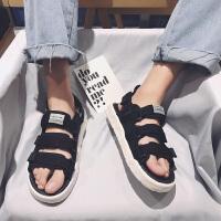 夏季凉鞋男士新款凉拖鞋韩版潮流个性情侣学生运动沙滩鞋