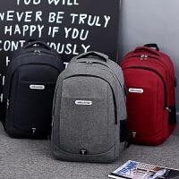 男士商务双肩包时尚潮流学生书包大容量多功能休闲旅行电脑背包女