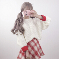 粗毛线毛衣女秋冬新款韩版甜美软妹学院风宽松显瘦套头打底衫上衣