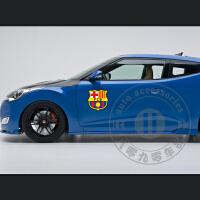 西班牙 巴萨 巴塞罗那 足球车贴 欧冠 汽车贴纸 球队标队徽车贴