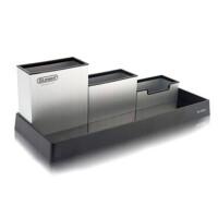 金隆兴 C2002 C2003铝合金笔筒 C2004 塑胶透明桌面三层笔筒组合 颜色随机