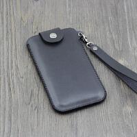 苹果手机套7plus挂脖子手机包iphone8 6s保护套X挂绳4.7 5.5 4.7寸黑色 磁扣款+长短2条绳