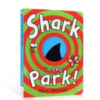 【全场300减100】英文原版 Shark In The Park 公园里面有鲨鱼 吴敏兰推荐绘本第26本 3-6岁低幼