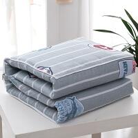 全棉汽车抱枕被子两用纯棉沙发靠垫被办公室空调枕头被加厚小靠枕 浅灰色 校园风云