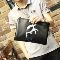 男士手包2018新款手提包手拿包时尚潮流韩版休闲手抓包男动物图案 2192-5猴子