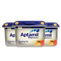 【3段白金】英国直邮/保税区发货 Aptamil爱他美 英爱白金婴幼儿奶粉 三段(1岁以上) 800g*3罐 海外购